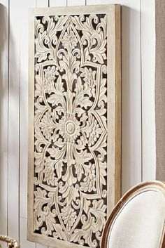Darma means u201cgood deedu201d in Indonesian and Pier 1u0027s handcrafted Darma Carved Wall Panel performs its good deed by brightening any space with global flair.  sc 1 st  Pinterest & Balinese Bed Headboard. Teak Carved Wood Wall Art Hanging Decorative ...