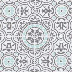 Tissu sergé azulejos gris Palace - Tissus - MAISON Mondial Tissus