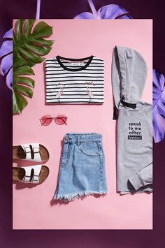 Primark Love Island official merchandise flamingo t-shirt Diy Fashion Photography, Clothing Photography, Fashion Collage, Fashion Shoot, Fashion Outfits, Outfits For Teens, Cool Outfits, Fashion Web Design, Clothing Store Interior