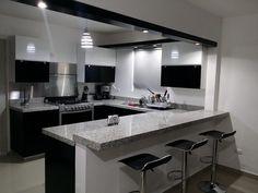 47 suprising small kitchen design ideas and decor 16 Kitchen Room Design, Kitchen Cabinet Design, Home Decor Kitchen, Interior Design Kitchen, Kitchen Furniture, Home Kitchens, Kitchen Ideas, Modern Kitchen Cabinets, Contemporary Kitchen Design