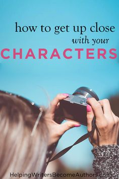 """Discover three methods to """"meet"""" your characters in fascinatingly visual and enlightening ways, so you can better bring them to life in your stories."""