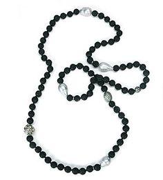 Lava, pearl and diamond necklace, Jordan Alexander, fragments.com, $3450