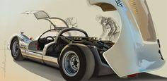 Porsche 906 by ChrisKwia / technical digital painting. www.digital-painting-fine-art.com