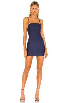 Shop for superdown Kiki Strappy Mini Dress in Blue at REVOLVE. Free day shipping and returns, 30 day price match guarantee. Pop Fashion, Vintage Fashion, Fashion Outfits, Trendy Fashion, Semi Dresses, Girls In Mini Skirts, Mini Vestidos, Revolve Clothing, Ladies Dress Design