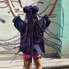 Pinning because her hair is crazy long like mine, but also purple and not like mine at all. It's awesome!