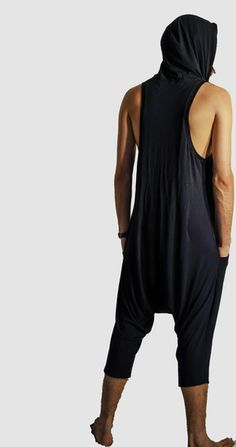 Appropriate for use everyday, not just Sundays. Available in Black. Modern Mens Fashion, Drop Crotch, Modern Man, Collars, Harem Pants, Onesies, Menswear, Pockets, Medium
