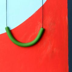 not quite a semicircle makes a necklace by notTuesday on Etsy, $45.00