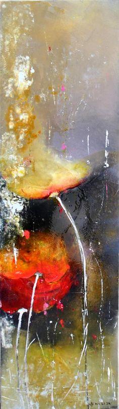 Emilija Pasagi, Evening Blooms. Mixed media.