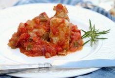 Bocados Caseros: Melva fresca con fritada de tomate casero