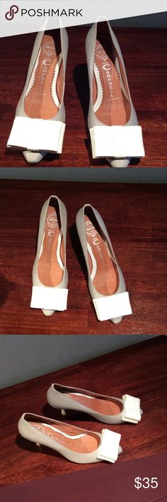 Jeffrey Campbell pumps with bows Handmade Ibiza Jeffrey Campbell pumps California. White patent leather bows. Light scuffs on sides and heels. Jeffrey Campbell Shoes