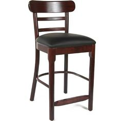 Salem Wood Counter Height Bar Stool (Dark Mahogany)