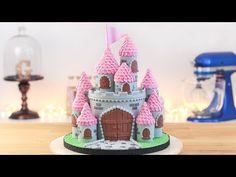 Cake Desing Princesse Disney Sleeping Beauty 46 Ideas For 2019 Easy Castle Cake, Disney Castle Cake, Frozen Castle Cake, Castle Cakes, Easy Princess Cake, Princess Castle, Cake Decorating Tutorials, Cookie Tutorials, Decorating Cakes