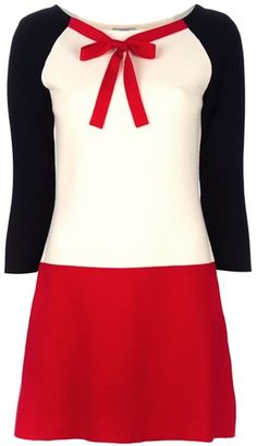 These 3 colors together always do wonders! MOSCHINO CHEAP & CHIC Wool Dress