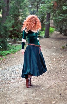 DIY Brave Costume, Princess Merida adult costume