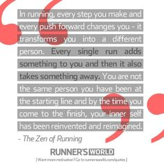 Every step and push forward changes you. #running