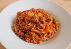 Rice Minced Meat Pan with Paprika How To Cook Beef, How To Cook Pasta, Italian Chef, Italian Recipes, Best Meat, Mince Meat, Bean Soup, Macaron, Casserole Dishes