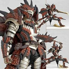 Monster Hunter character in Ratholos armor by Revoltech