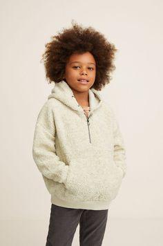 Mango Hooded Faux Shearling Jacket - M Years 55 In) Faux Shearling Jacket, Kids Usa, Boy Fashion, Latest Fashion Trends, Boy Outfits, Hooded Jacket, Hoods, Long Sleeve, Sleeves