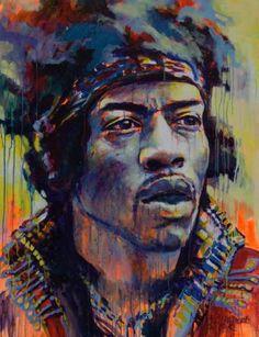 Jimi Hendrix painting by  Marta Zawadzka