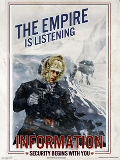 Encounter at Echo Base by gattadonna  The Empire is listening, importance of information intelligence in Star Wars