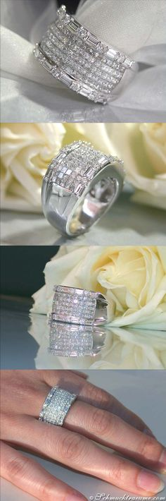 Terrific Diamond Ring, 3,04 cts. g-vsi WG18K - Visit: schmucktraeume.com - Like: https://www.facebook.com/pages/Noble-Juwelen/150871984924926 - Mail: info@schmucktraeume.com♡*⁀*✿PM