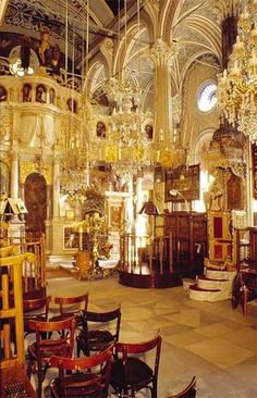 Taxiarchis church in Lesvos, Greece. Incredible.