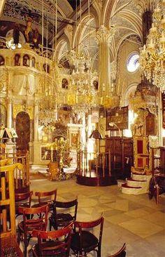 Taxiarchis church in Lesvos, Greece.  Incredible.