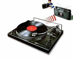 Wireless turntable 1978. (Technics SL-FM1)