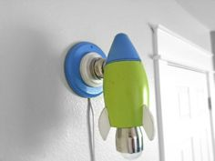 Rocket kids lamp. Space shuttle wall light. by Goodwoodshop, $79.99