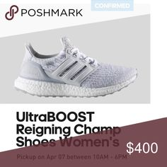 Ultra boost Ultra boost women's size 9.5 (men's size 7) both men and women's shoes are exactly the same so there aren't any differences. Adidas Shoes Sneakers