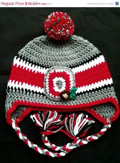 f1a24fd7144 Items similar to Ohio State Baby Hat Winter Crochet Hat Toddler Child on  Etsy