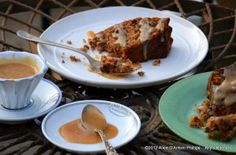 Applesauce and Blueberry Spice Cake with Chambord Caramel Sauce