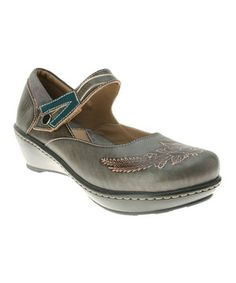 Look at this #zulilyfind! L'Artiste by Spring Step Gray Demitria Leather Mary Jane by L'Artiste by Spring Step #zulilyfinds