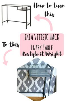 Restyle it Wright: Ikea Vittsjo Hack| Entryway Table Makeover this table for $60!  Ikea hack, vittsjo, marble paper