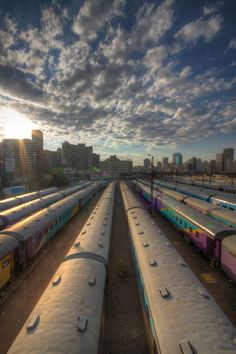 Trains converge at Johannesburg's central train station Multiple Exposure, Dynamic Range, Train Station, Hdr, Railroad Tracks, Trains, Shots, African, Lighting