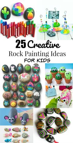 25 Creative Rock Painting Ideas and Rock Crafts for Kids