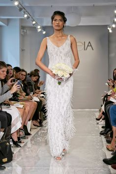 9 Wedding Dress Trends For Anti-Princess Brides #refinery29  http://www.refinery29.com/alternative-wedding-dress-trends#slide8  The Way She Moves Bride You're the absolute furthest thing from a stiff. So, naturally, you expect nothing less from your wedding dress. Thankfully, Theia made a look that's especially fitting for your day and your first dance...which, no surprise, is much more of a jive than a waltz.