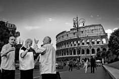 Locals near Colosseum. Rome Italy, Louvre, Building, People, Travel, Buildings, Viajes, Traveling, People Illustration