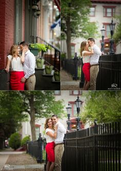 Schenectady Stockade Summer Engagement. © Matt Ramos Photography