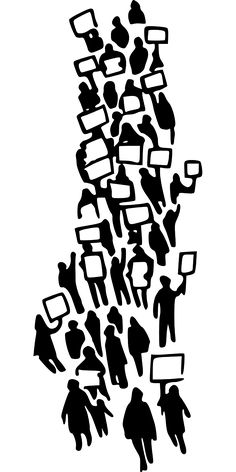 Demonstration, Protest, Declaration, People