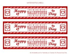Valentine Water Bottle Labels | Flickr - Photo Sharing!