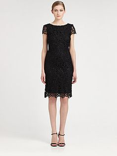Alice + Olivia Open Back Lace Dress | LBD Perfection.