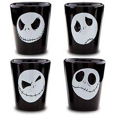 4 set Jack Skellington shot glasses