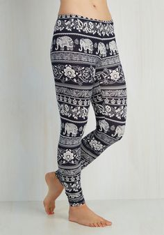 Wild About These Leggings. You just have to smile when you see these printed leggings!  #modcloth