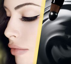 Eye Studio Lasting Drama Gel Eyeliner by Maybelline. Smudge proof and waterproof gel eyeliner to help you achieve that long lasting winged eyeliner makeup look. Dramatic Eyeliner, Simple Eyeliner, Eyeliner Looks, Eyeliner Ideas, Eyeliner Makeup, Eyeliner Brush, Black Eyeliner, Mac Makeup, Makeup Art
