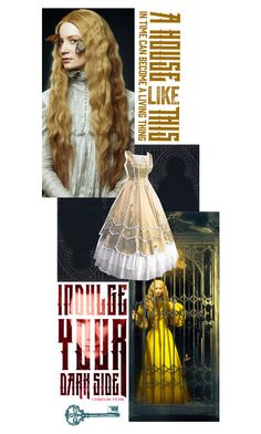 """""""Indulge Your Dark Side with Crimson Peak : Contest Entry"""" by leslie-xoxo ❤ liked on Polyvore featuring Masquerade, vintage and CrimsonPeak"""