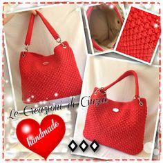 ...le mie CREAZIONI: Strawbarry bag - Rosso fragola