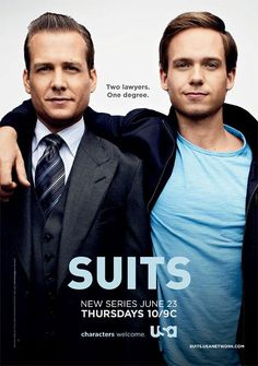Suits (USA Network, Thursdays)  First legal show I watched.  Unfortunately cool and brillant lawyers like Harvey and Mike don't exist. That's just TV.