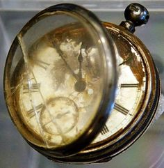 A pocket watch found in the belongings of a third class passenger named William Henry Allen, found in the Titanic wreckage