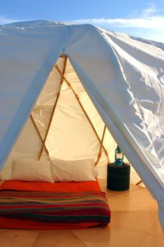 Could this be the world's nicest tent? El Cosmico located in Marfa, TX. $80/night.
